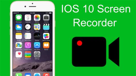 HOW TO RECORD YOUR IOS 10+ iPhone SCREEN FOR FREE - YouTube