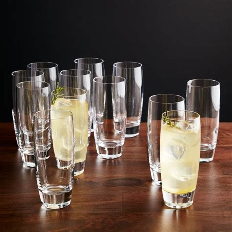 Otis Tall Drink Glasses, Set of 12 + Reviews | Crate and