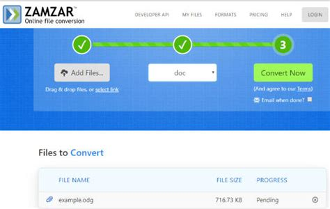 Convert ODG to WORD Online with these Free Websites