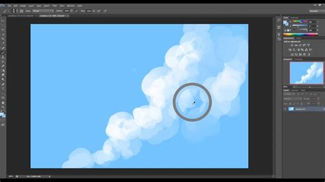 How to paint basic clouds in Photoshop - YouTube
