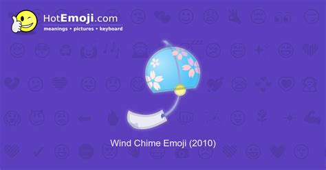 Wind Chime Emoji Meaning with Pictures: from A to Z