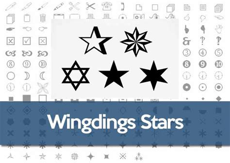 Wingdings Star Symbol: How to Make a Star in Windows