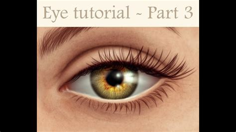 How to paint a realistic EYE with Photoshop (3/3) - YouTube