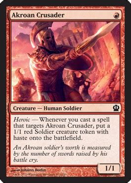 Akroan Crusader from Theros Spoiler